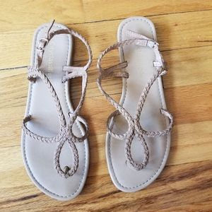 Cityclassified Tan Braided Sandals